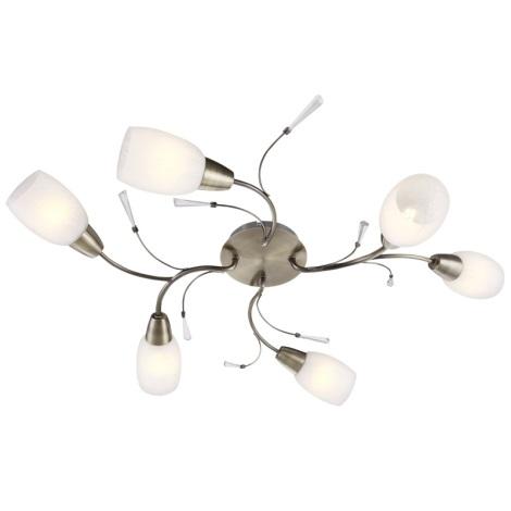Globo 54645-6 - Mennyezeti lámpa FORREST 6xE14/40W/230V