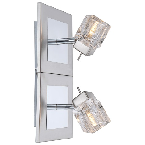 GLOBO 56443-2 - Fali lámpa Cattleya 2xG9/33W/230V