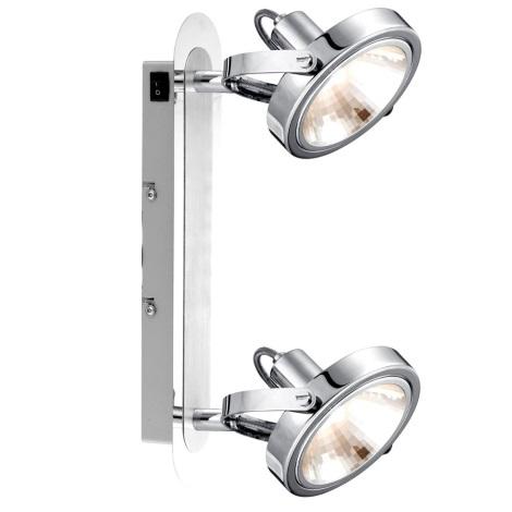 GLOBO 56452-2 - Spot lámpa irányítható KIROGI 2xG9/33W