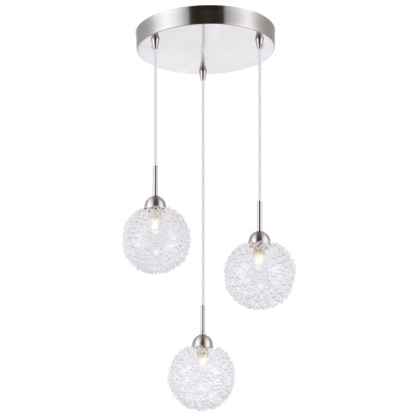 GLOBO 5662-3H - Függesztékes  lámpa NEW DESIGN 3xG9/33W/230V
