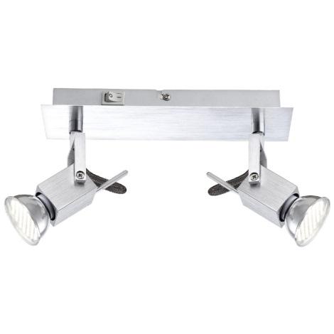 GLOBO 57870-2 - Spotlámpa LED CLIMAX 2xGU10/3,5W/230V
