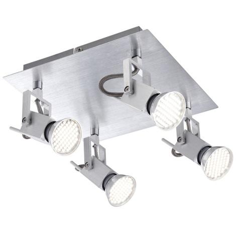 GLOBO 57870-4 - Spot LED-es lámpa CLIMAX 4xGU10/3,5W/230V