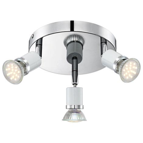 GLOBO 57996-3 - LEDspotlámpa  FINA 3xGU10-LED/2,5W