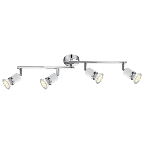 GLOBO 57996-4 - FINA LED-es spotlámpa 4xGU10-LED/2,5W