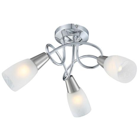 Globo 63178-3 - Mennyezeti lámpa  TIMON 3xE14/40W/230V alabástrom üveg