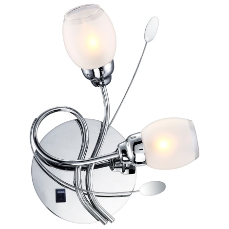 GLOBO 68283-2W - LED fali lámpa BILL 2xG9/33W, 6xLED/0,18W