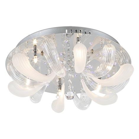 GLOBO 68336-6 - MORENO mennyezeti lámpa 6xG4/20W/12V+18xLED/0,06W/3V+11xLED/0,06W/3V