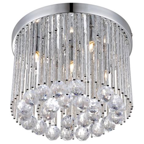 GLOBO 68348-5 - Mennyezeti  kristály lámpa JANINA 5xG9/33W/230V