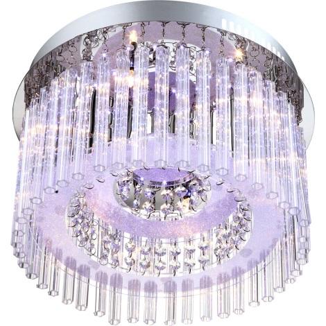 GLOBO 68568-6 - LED-es mennyezeti lámpa JOYCE 6xG4/20W 76xLED/0,06W