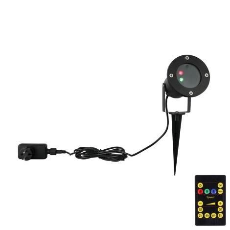 Globo - LED Lézer projektor LED/10W/230V IP65 + távirányító