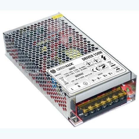 Greenlux GXLD007 - Transzformátor LED-szalaghoz 150W/230V