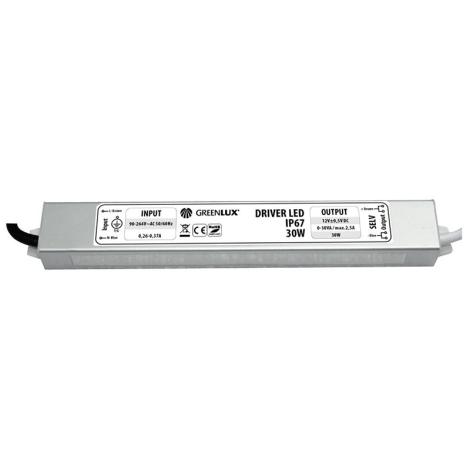 Greenlux GXLD008 - LED elektromos transzformátor 12V/30W