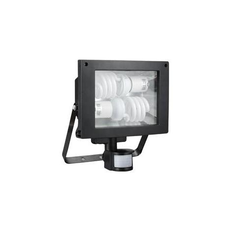 GXER005 - TOMI szenzoros fénycsöves reflektor 2xE27/20W/230V  fekete