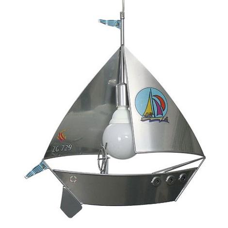 Gyerek csillár vitorláshajó  1xE27/60W ezüst