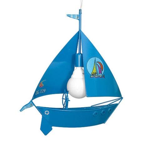 Gyerek csillár vitorláshajó 1xE27/60W kék