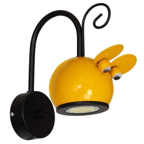Gyerek fali lámpa MOUSE 1xGU10/40W/230V sárga