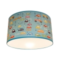 Gyerek mennyezeti lámpa AUTA 2xE27/60W/230V kék