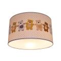 Gyerek mennyezeti lámpa BEARS 2xE27/60W/230V fehér