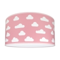 Gyerek mennyezeti lámpa CLOUDS PINK 2xE27/60W/230V rózsaszín