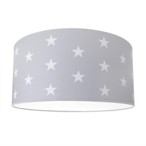 Gyerek mennyezeti lámpa STARS GREY 2xE27/60W/230V szürke
