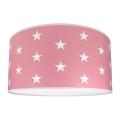Gyerek mennyezeti lámpa STARS PINK 2xE27/60W/230V rózsaszín