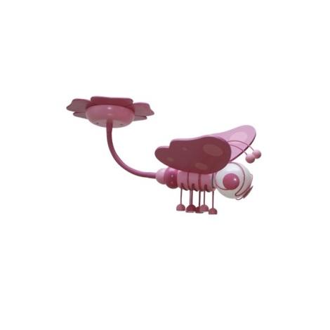 Gyereklámpa MOTÝL lila/rózsaszín