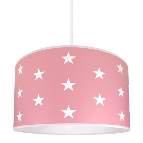 Gyereklámpa STARS PINK 1xE27/60W/230V