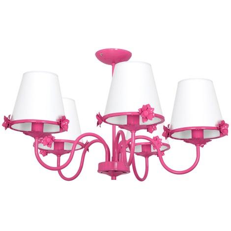 Gyermek csillár ALICE 5xE14/60W/230V rózsaszín