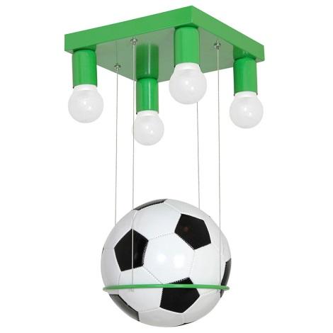 Gyermek csillár FOOTBALL 4xE27/60W/230V