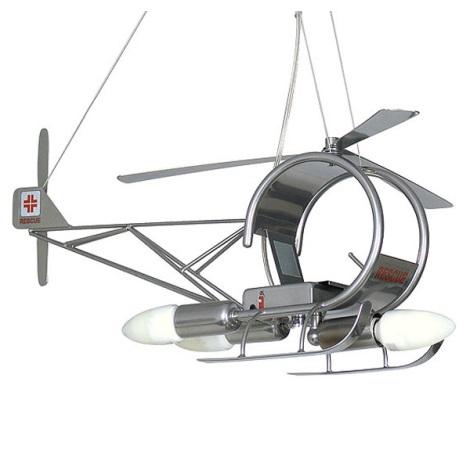 Gyermek csillár Helikopter 3xE14/60W ezüst
