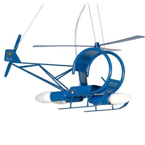 Gyermek csillár Helikopter 3xE14/60W kék