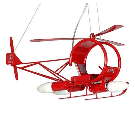 Gyermek csillár Helikopter gyerek  3xE14/60W piros