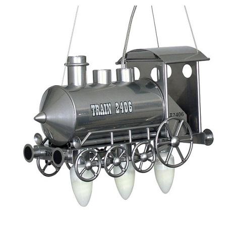 Gyermek csillár Mozdony 3xE14/60W ezüst