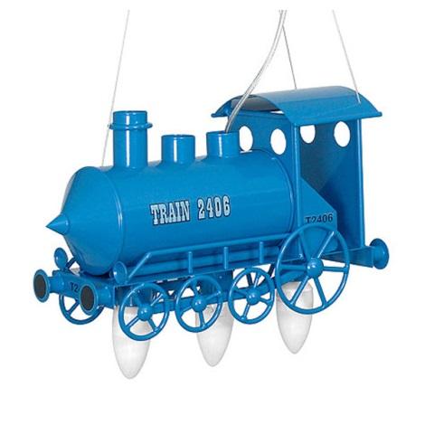 Gyermek  csillár mozdony  3xE14/60W kék