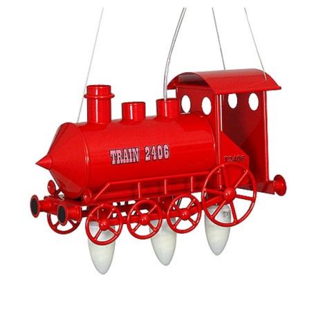Gyermek csillár Mozdony 3xE14/60W piros