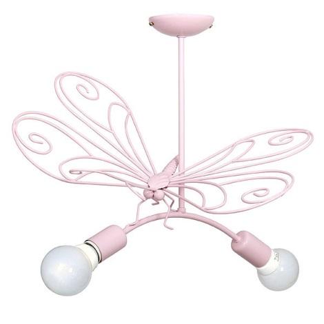 Gyermek csillár Pillangó  2xE27/60W rózsaszín