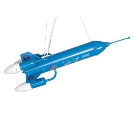 Gyermek csillár RAKÉTA 3xE14/60W kék