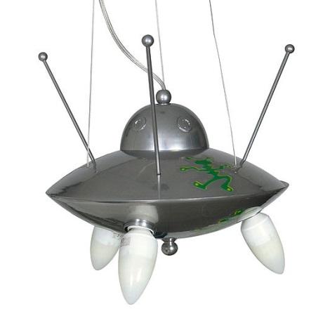 Gyermek csillár  Ufo 3xE14/60W ezüst