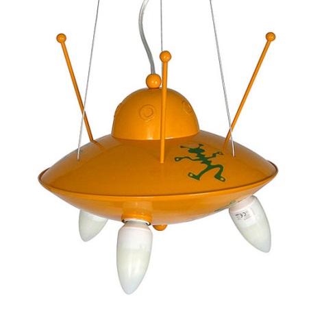 Gyermek csillár Ufo 3xE14/60W  sárga