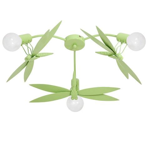 Gyermek mennyezeti lámpa SZITKÖTŐ 3xE27/60W zöld