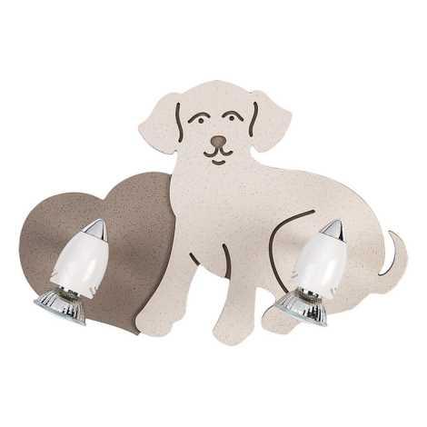 Gyermek spotlámpa DOG 2xGU10/35W/230V