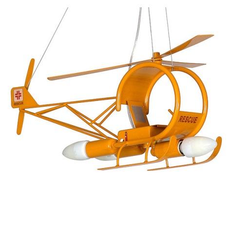 Helikopter gyermek csillár 3xE14/60W sárga