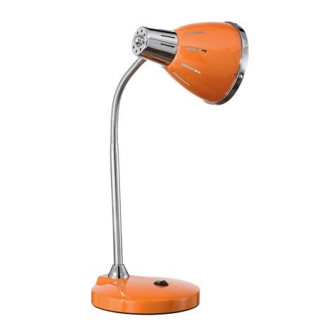 Ideal Lux 015262 - Asztali lámpa ELVIS 1xE27/60W/230V narancs