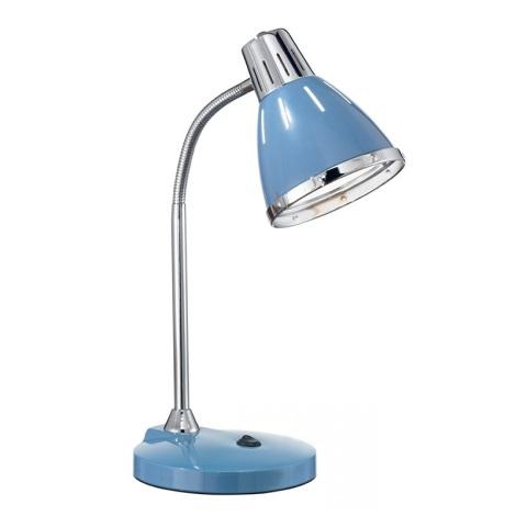 Ideal Lux 034409 - Asztali lámpa ELVIS 1xE27/60W/230V kék