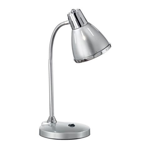 Ideal Lux 034416 - Asztali lámpa ELVIS 1xE27/60W/230V ezüst