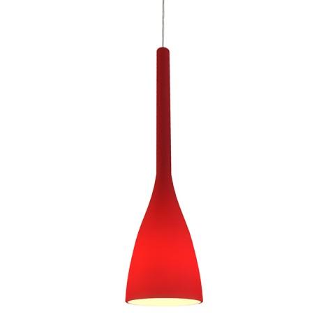Ideal Lux 035673 - Csillár FLUT 1xE27/60W/230V piros