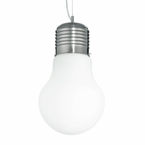 Ideal Lux 07137 - Függesztékes lámpa LUCE SP1 SMALL BIANCO 1xE27/60W/230V