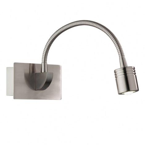 Ideal Lux 31477 - LED Fali lámpa DYNAMO AP1 NICKEL 1xLED/3W/230V
