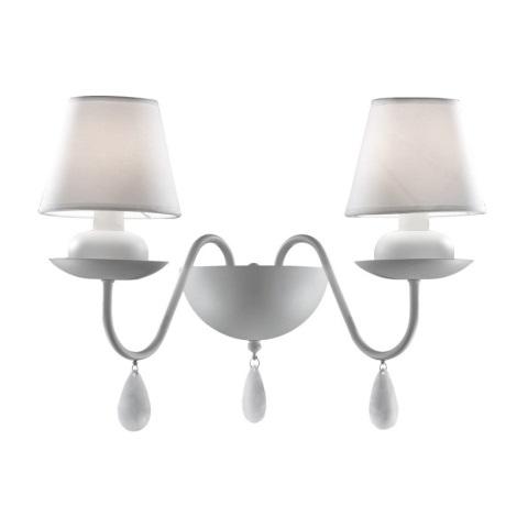 Ideal Lux 35598 - Fali lámpa BLANCHE AP2 2xE14/40W/230V