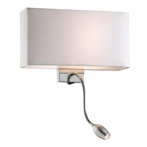 Ideal Lux 35949 - Fali lámpa HOTEL AP2 BIANCO 1xE27/60W/230V + 1x1W/LED/230V